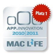 1. Platz Mac Life App Innovation 2010 | 2011